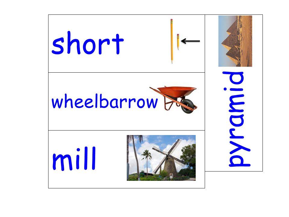 wheelbarrow pyramid mill short