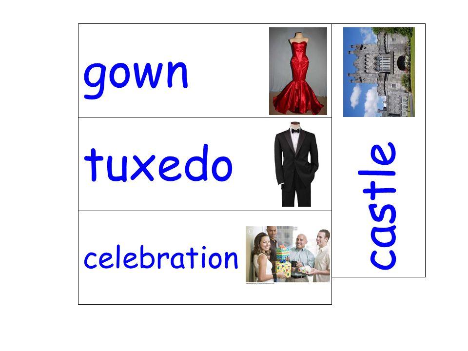 tuxedo castle celebration gown