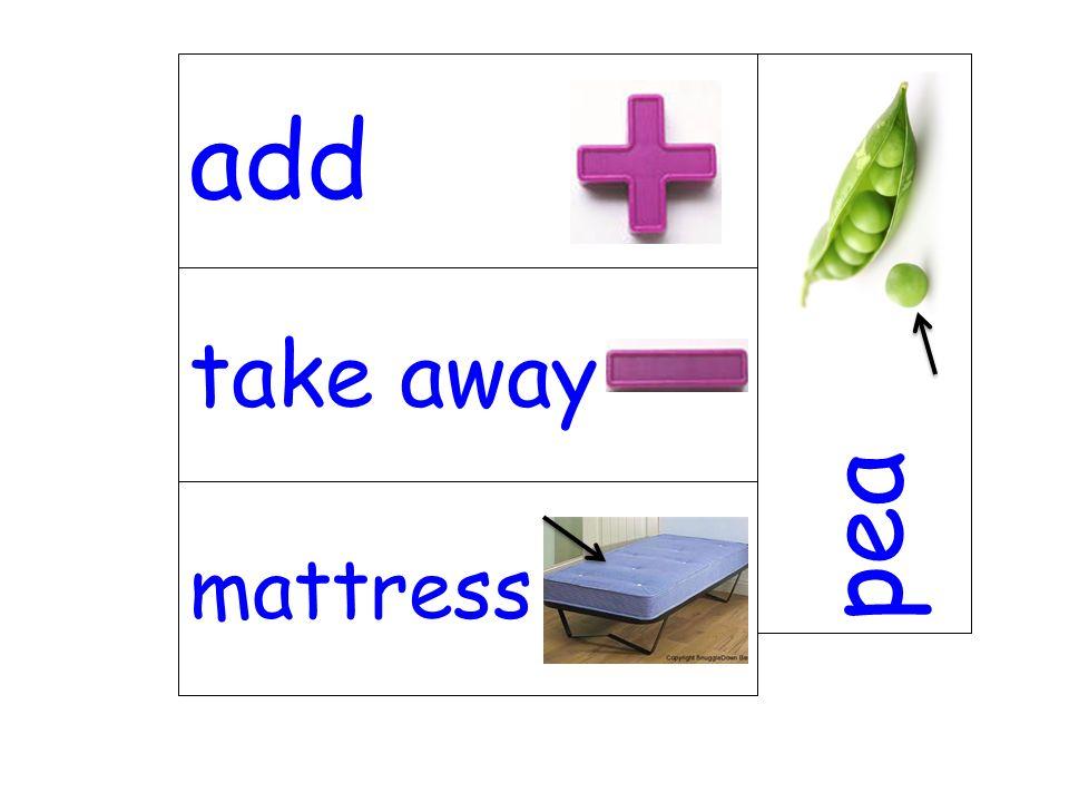 take away pea mattress add