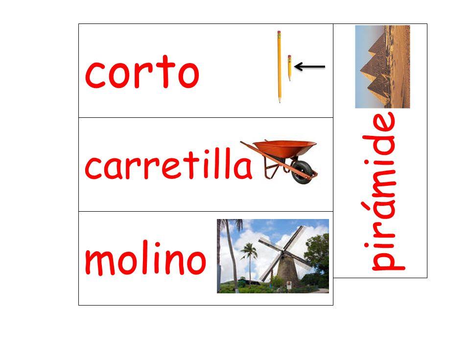 carretilla pirámide molino corto