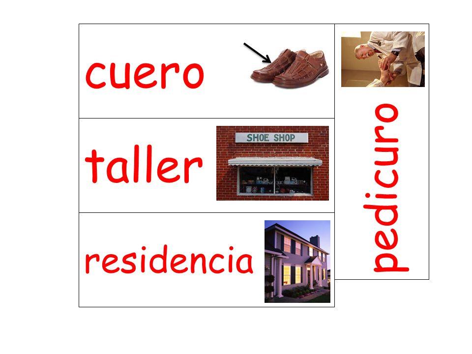 taller pedicuro residencia cuero