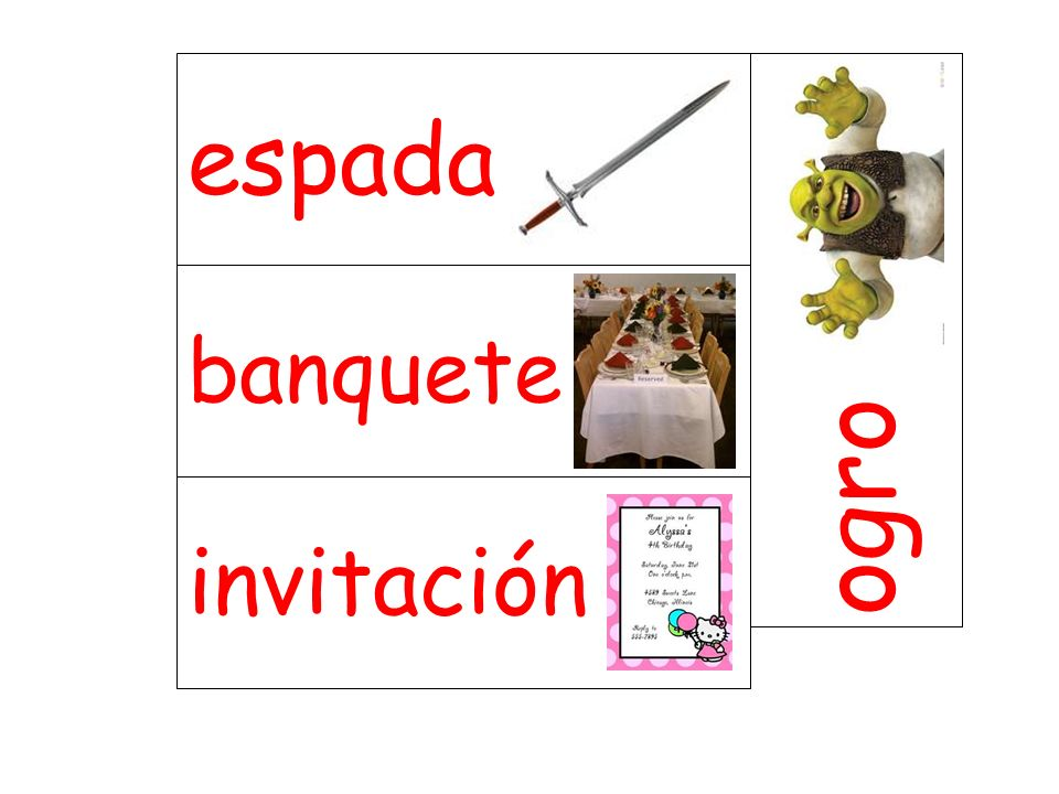 banquete ogro invitación espada