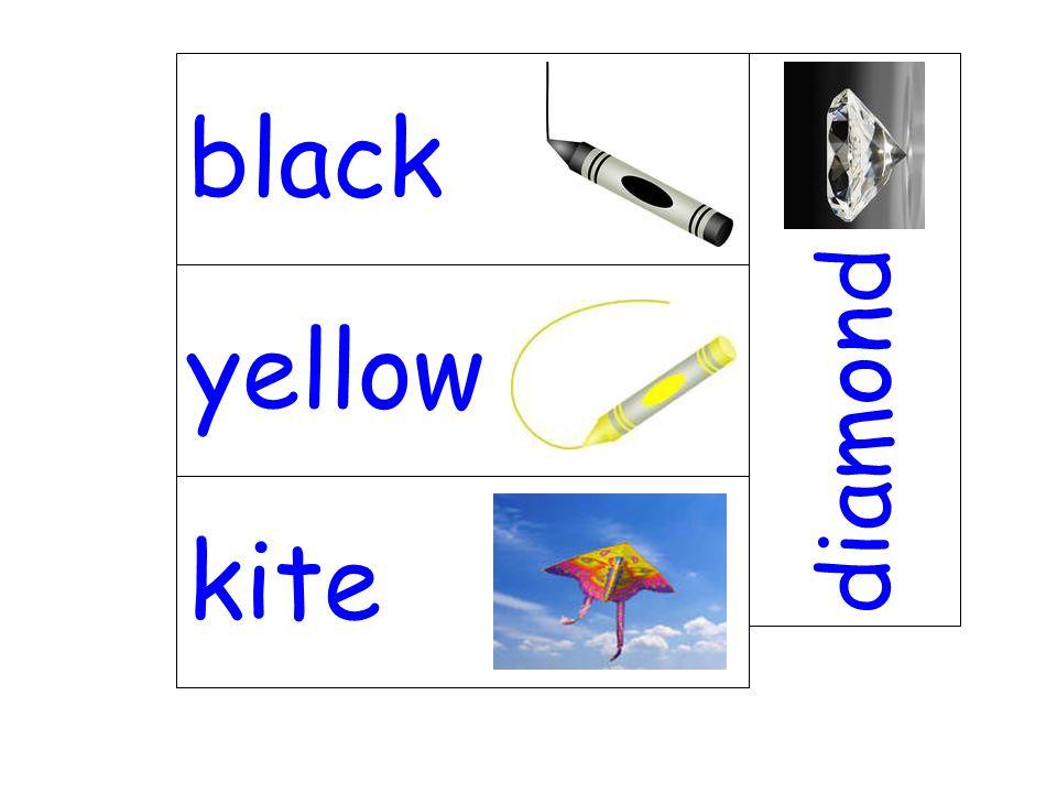 yellow diamond kite black