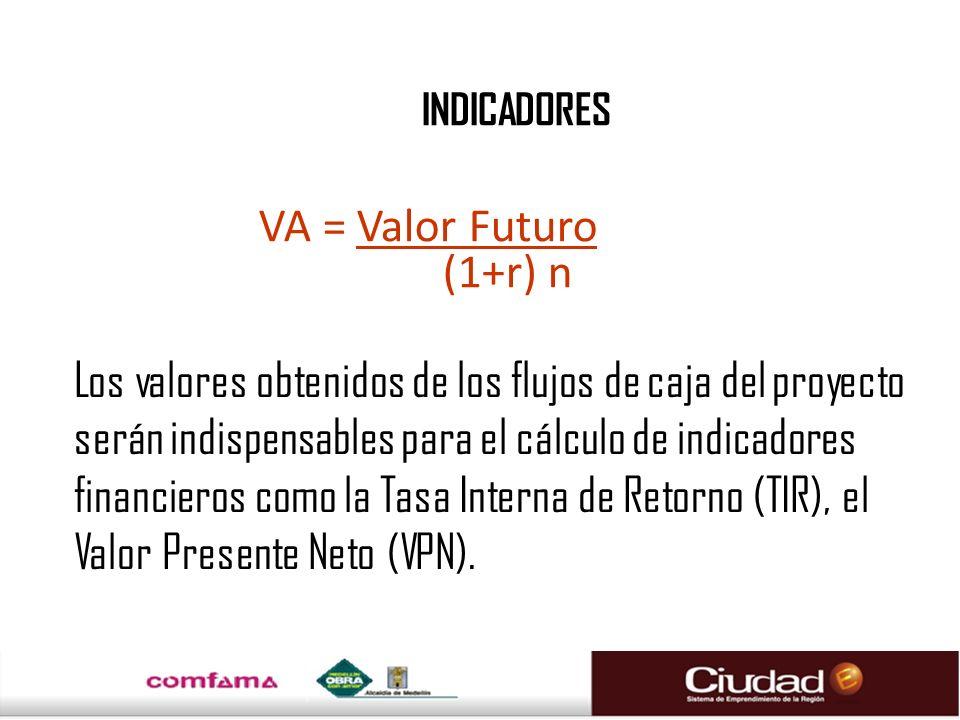 Los valores obtenidos de los flujos de caja del proyecto serán indispensables para el cálculo de indicadores financieros como la Tasa Interna de Retor