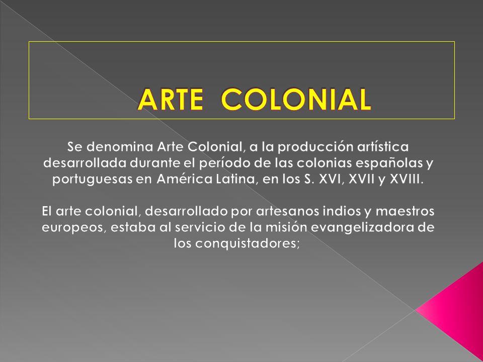 La pintura colonial se sustenta en el dibujo y el color, las cuales sirven para representar, es decir, describir, explicar y enseñar principalmente los dogmas católicos.