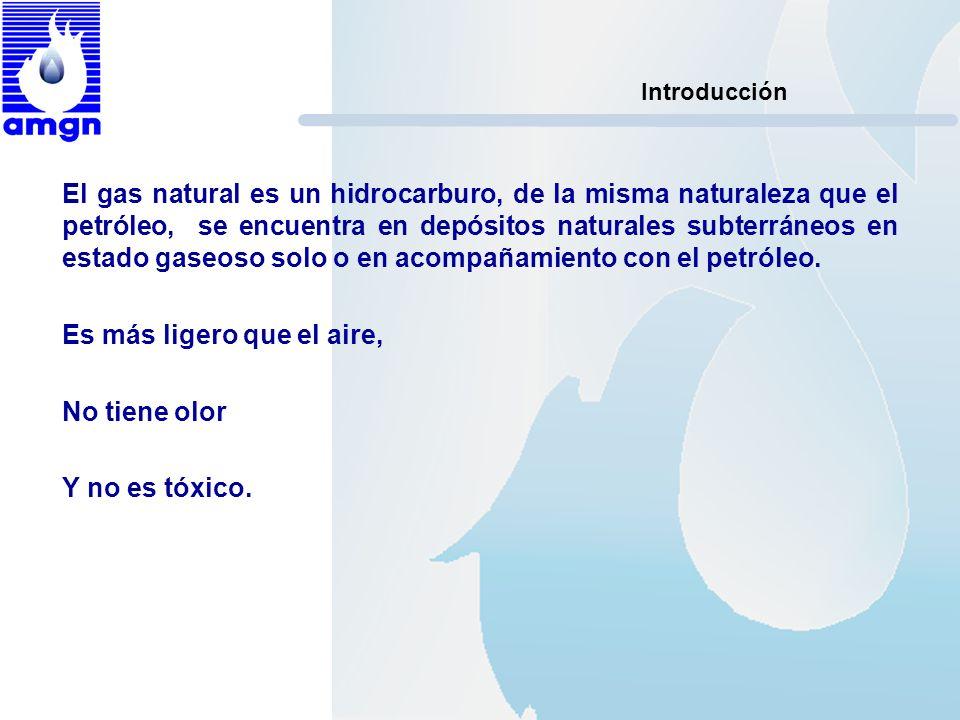 Introducción El gas natural es un hidrocarburo, de la misma naturaleza que el petróleo, se encuentra en depósitos naturales subterráneos en estado gas