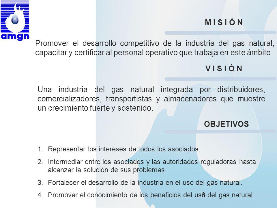 3 Promover el desarrollo competitivo de la industria del gas natural, capacitar y certificar al personal operativo que trabaja en este ámbito M I S I