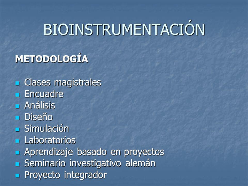 BIOINSTRUMENTACIÓN CONTENIDO: CONTENIDO: Conceptos generales sobre Bioinstrumentación Conceptos generales sobre Bioinstrumentación Mediciones del sistema cardiovascular y respiratorio Mediciones del sistema cardiovascular y respiratorio Medición de biopotenciales Medición de biopotenciales Seguridad eléctrica Seguridad eléctrica Fundamentos de la Bioinstrumentación virtual Fundamentos de la Bioinstrumentación virtual
