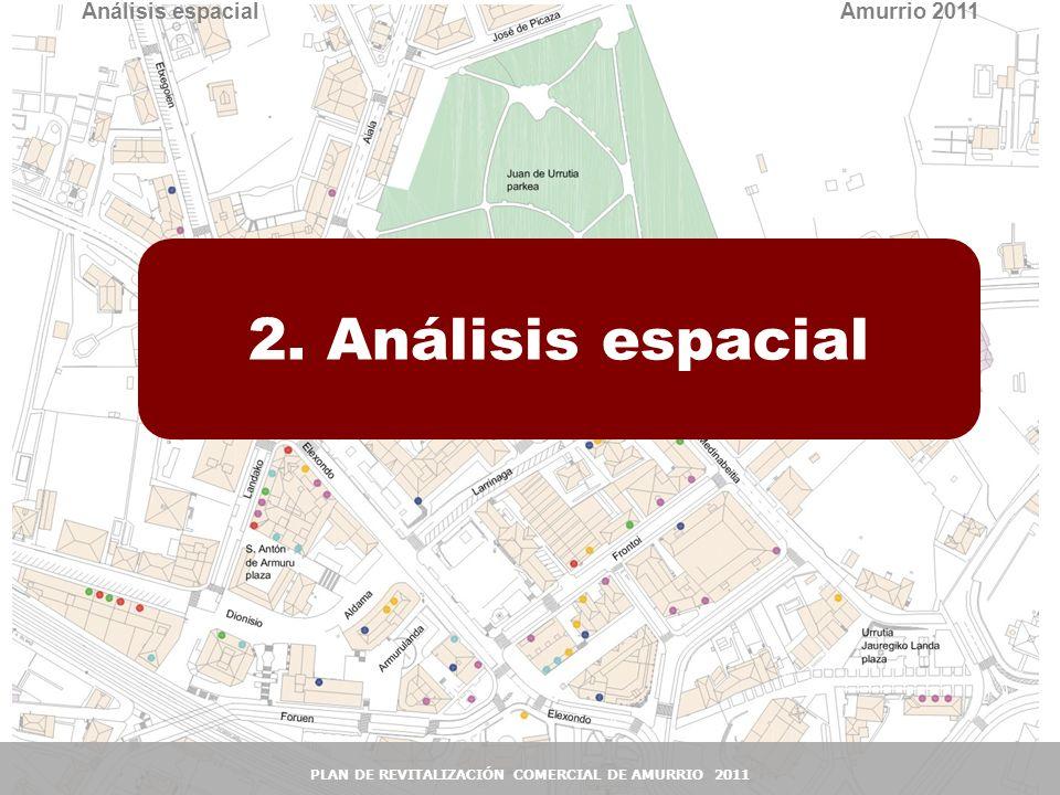 12 2. Análisis espacial Amurrio 2011 PLAN DE REVITALIZACIÓN COMERCIAL DE AMURRIO 2011 Análisis espacial