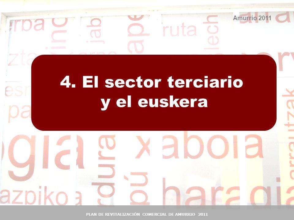 33 Amurrio 2011 4. El sector terciario y el euskera PLAN DE REVITALIZACIÓN COMERCIAL DE AMURRIO 2011