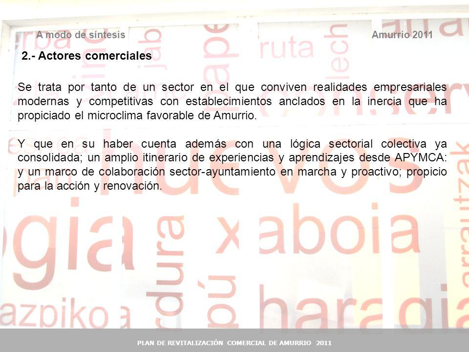 41 Amurrio 2011A modo de síntesis PLAN DE REVITALIZACIÓN COMERCIAL DE AMURRIO 2011 Se trata por tanto de un sector en el que conviven realidades empre