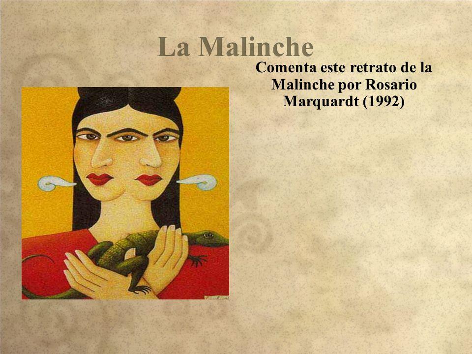 Comenta este retrato de la Malinche por Rosario Marquardt (1992)