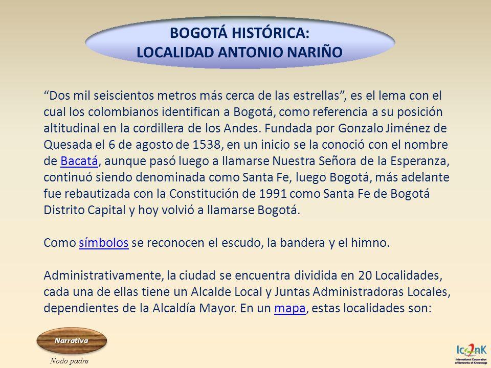 Dos mil seiscientos metros más cerca de las estrellas, es el lema con el cual los colombianos identifican a Bogotá, como referencia a su posición alti