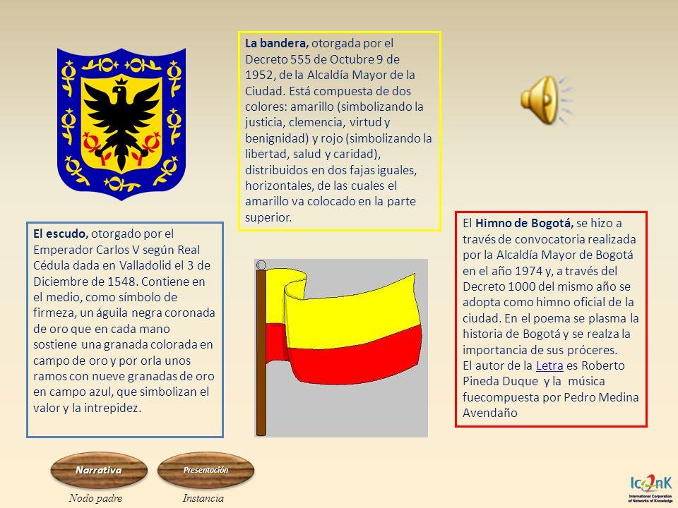El escudo, otorgado por el Emperador Carlos V según Real Cédula dada en Valladolid el 3 de Diciembre de 1548. Contiene en el medio, como símbolo de fi