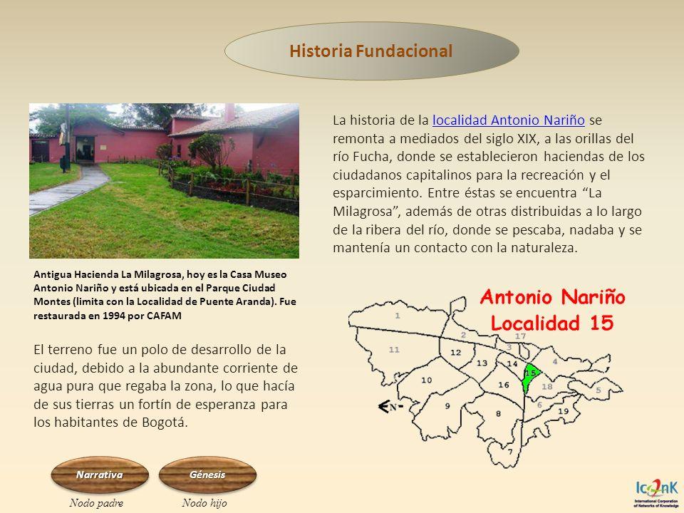 La historia de la localidad Antonio Nariño se remonta a mediados del siglo XIX, a las orillas del río Fucha, donde se establecieron haciendas de los c