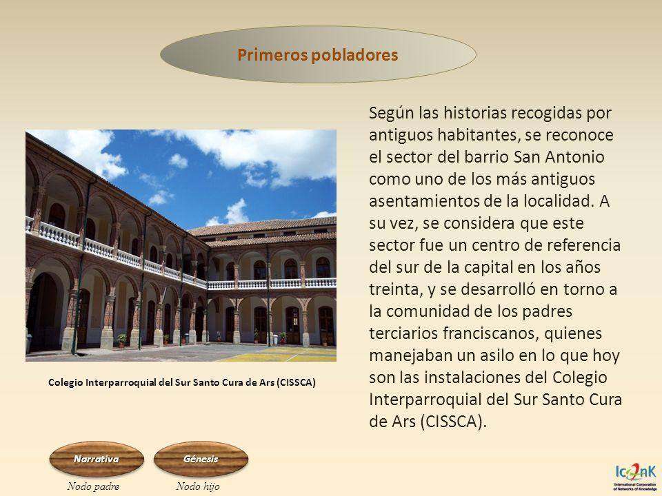 Según las historias recogidas por antiguos habitantes, se reconoce el sector del barrio San Antonio como uno de los más antiguos asentamientos de la l