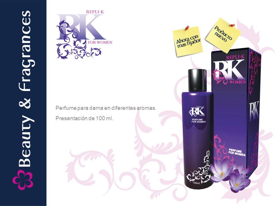 Perfume para dama en diferentes aromas. Presentación de 100 ml.