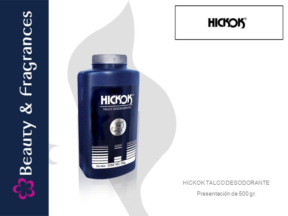 HICKOK TALCO DESODORANTE Presentación de 500 gr.