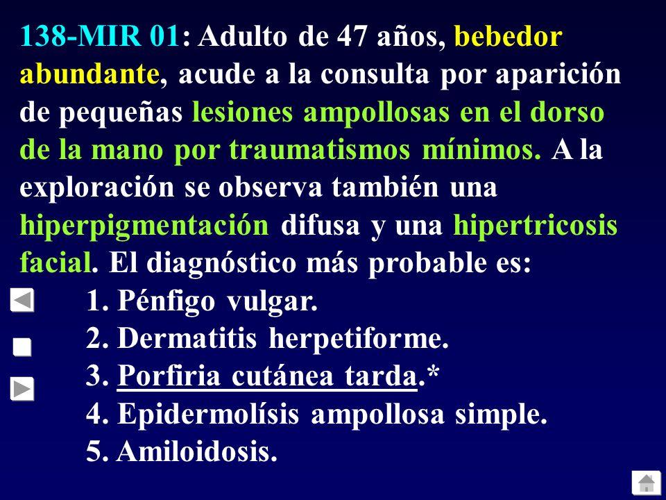 137-MIR 01: La localización más común de las lesiones de necrobiosis lipoídica es: 1. Cuero cabelludo. 2. Región dorso-lumbar. 3. Superficie anterior