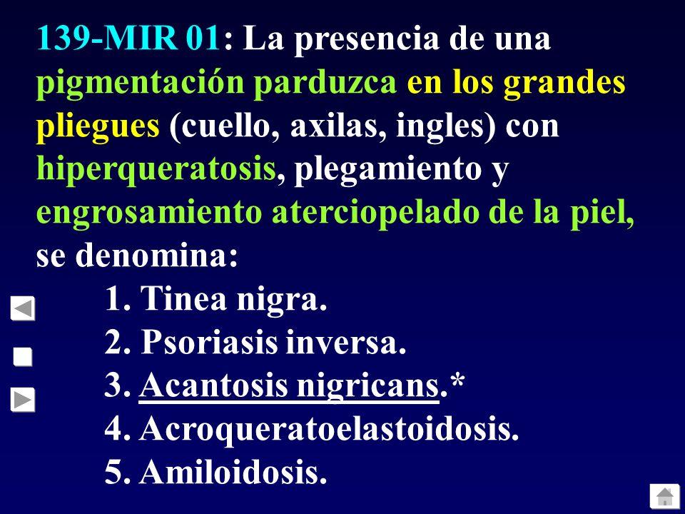 138-MIR 01: Adulto de 47 años, bebedor abundante, acude a la consulta por aparición de pequeñas lesiones ampollosas en el dorso de la mano por traumat