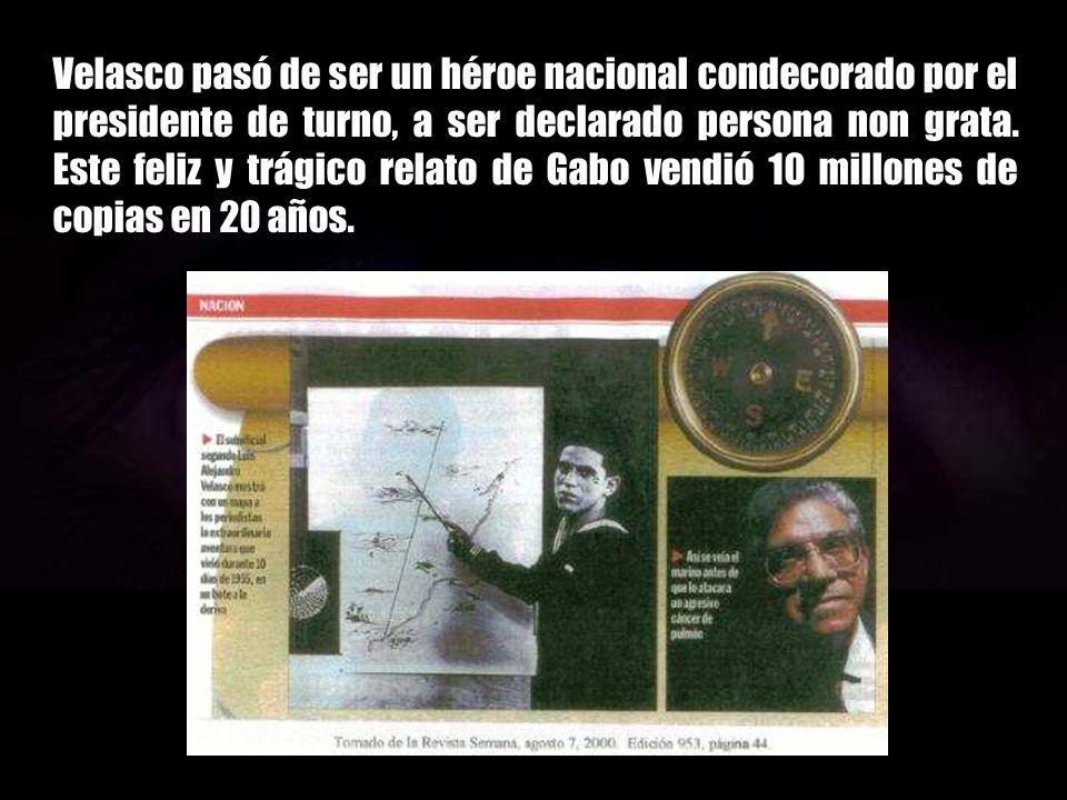 Describió maravillosamente la historia de un marino colombiano de la Armada de su país que sobrevivió porque bebió agua de mar. Gabo contó la historia