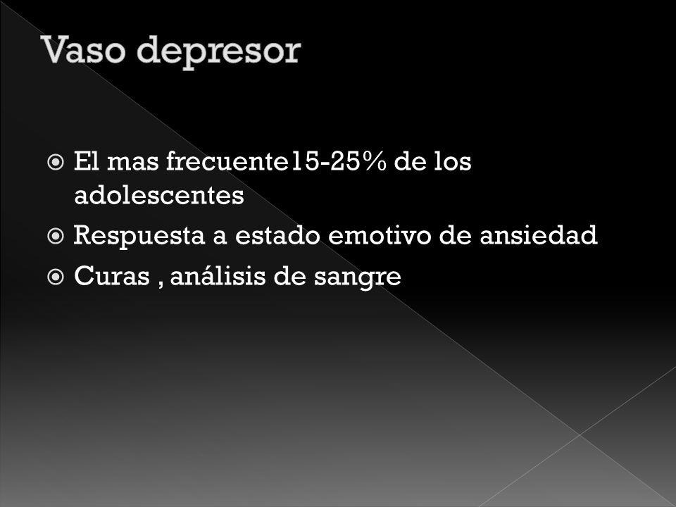 Vaso depresor Ortostatico