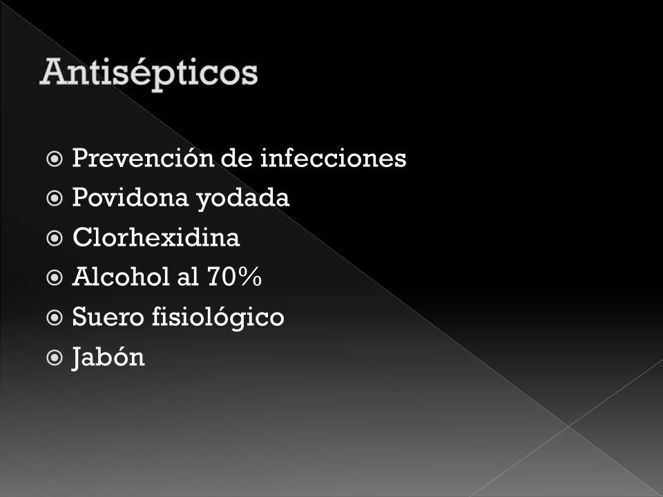 Elementos esenciales Antisépticos Material de curación Instrumentos y elementos adicionales Medicamentos Importante