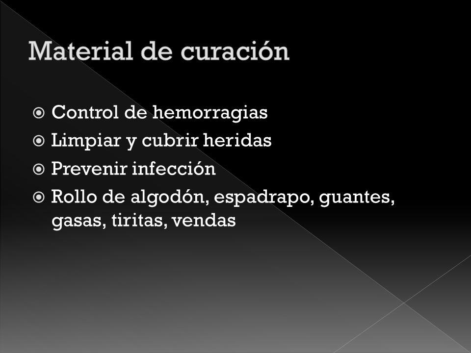 Prevención de infecciones Povidona yodada Clorhexidina Alcohol al 70% Suero fisiológico Jabón