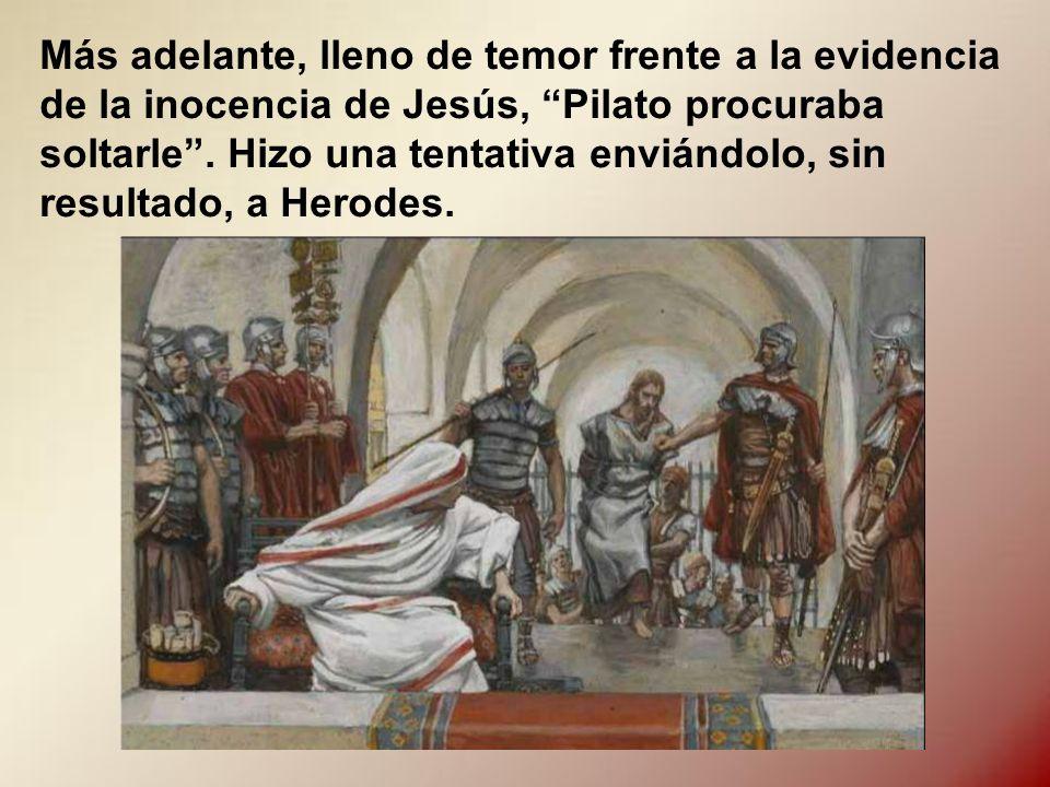 Pilato era inteligente. Por algo estaba en ese puesto. Enseguida se dio cuenta que Jesús no había cometido falta alguna y que los jefes judíos le entr