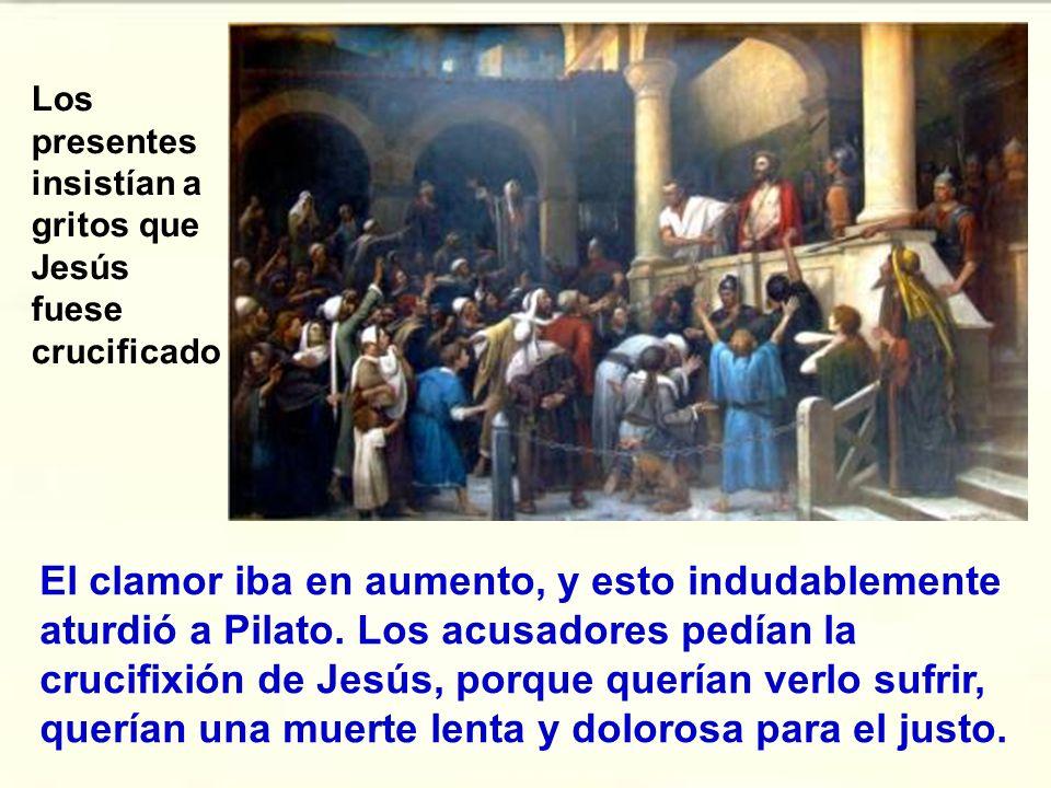 De esa manera presentó Pilato a Jesús, el hombre, a la gente, creyendo que obtendría compasión.