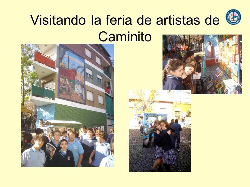 Visitando la feria de artistas de Caminito