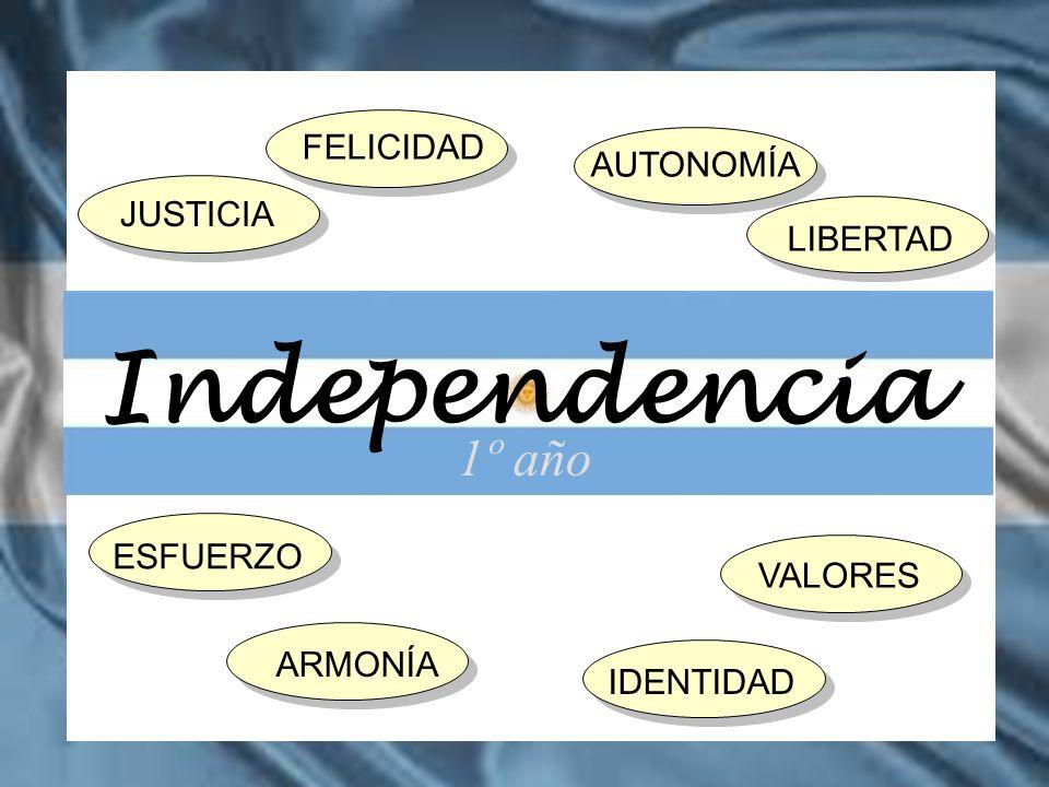 FELICIDAD ESFUERZO JUSTICIA AUTONOMÍA LIBERTAD VALORES ARMONÍAIDENTIDAD 1º año