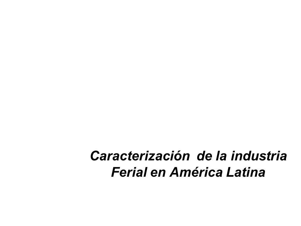 El análisis de cada uno de los factores que estimulan o afectan la actividad ferial en América Latina en cada uno de los países que la integran, lleva a concluir que difícilmente se puede definir una única realidad para la industria en el continente.
