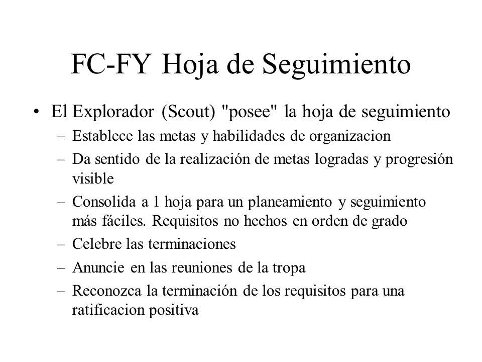 FC-FY Hoja de Seguimiento El Explorador (Scout)