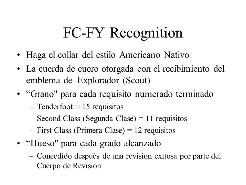 FC-FY Recognition Haga el collar del estilo Americano Nativo La cuerda de cuero otorgada con el recibimiento del emblema de Explorador (Scout) Grano