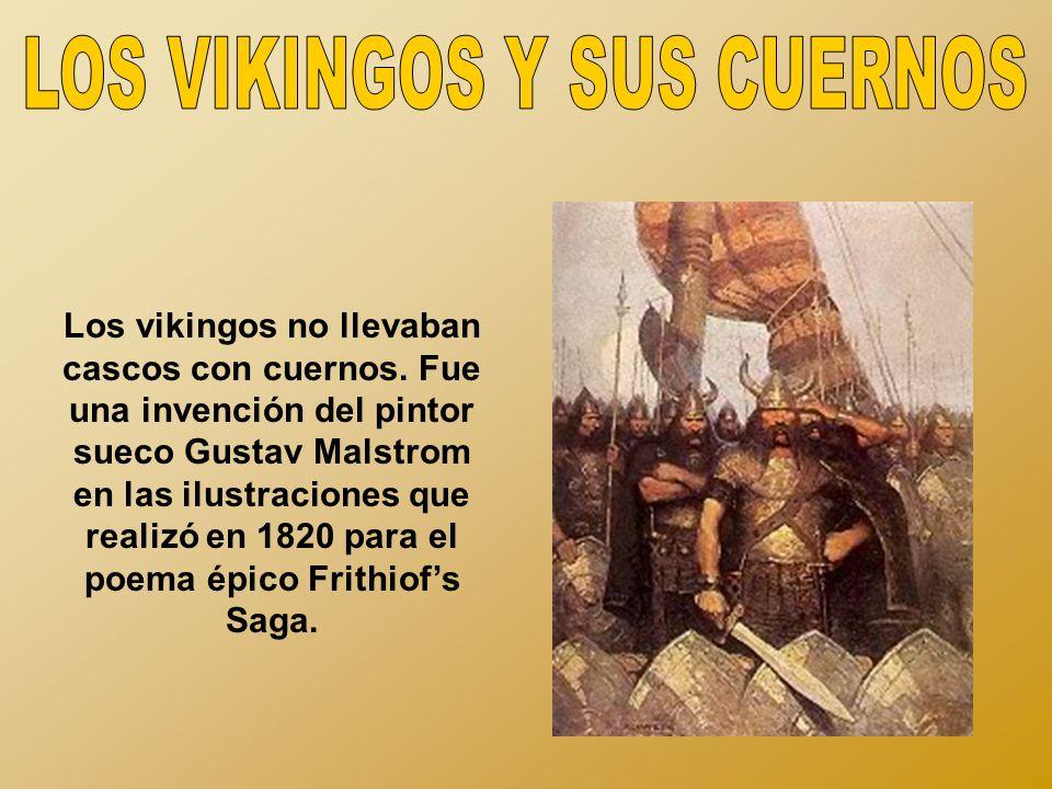 Los vikingos no llevaban cascos con cuernos.