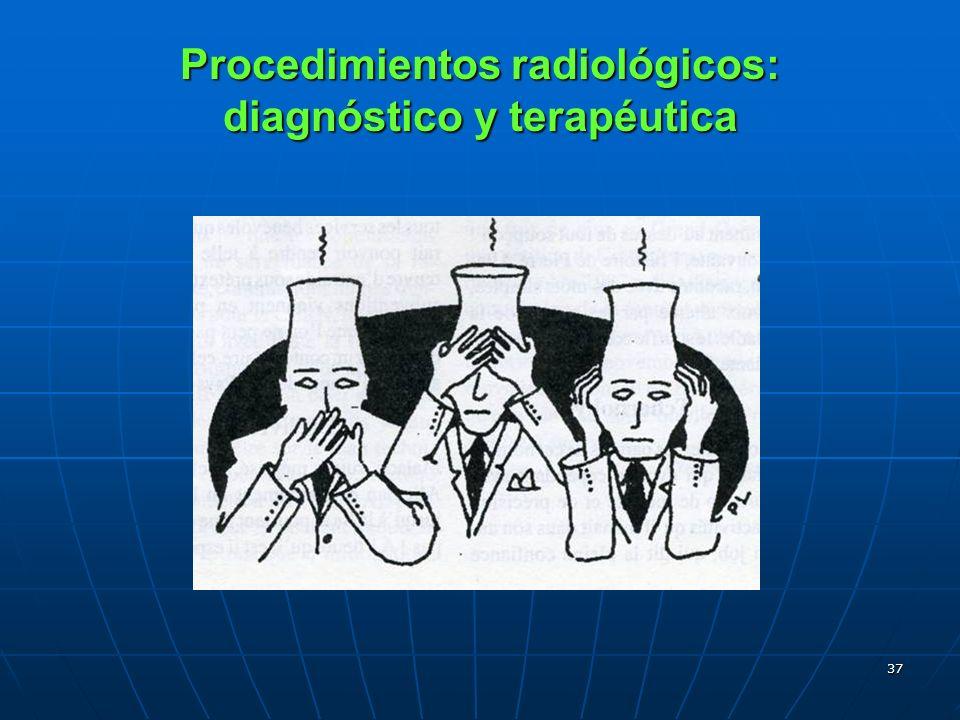 37 Procedimientos radiológicos: diagnóstico y terapéutica