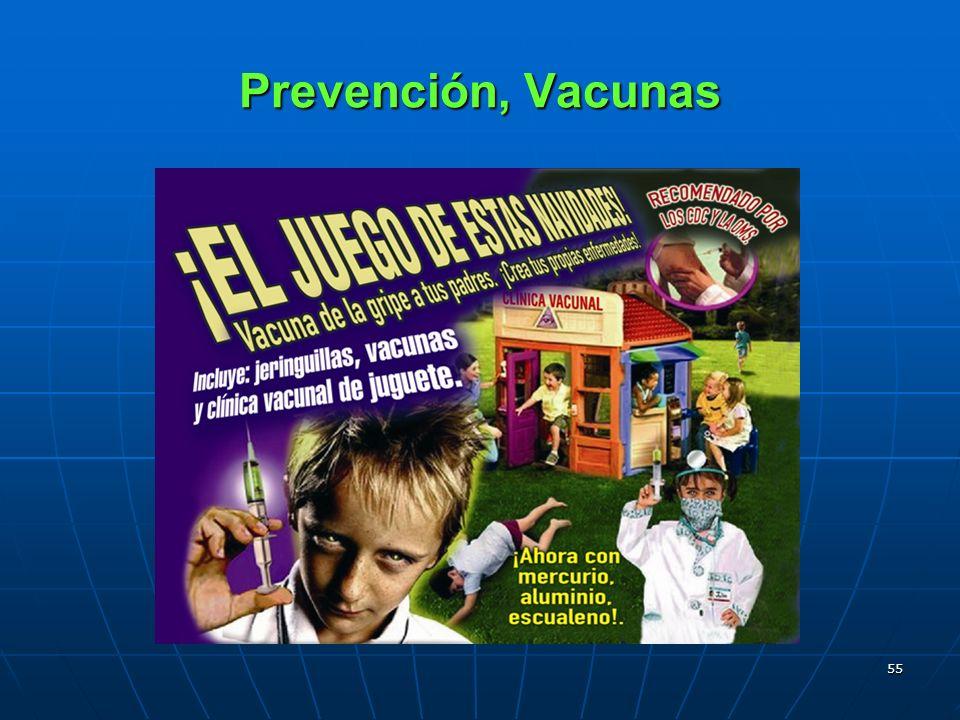55 Prevención, Vacunas