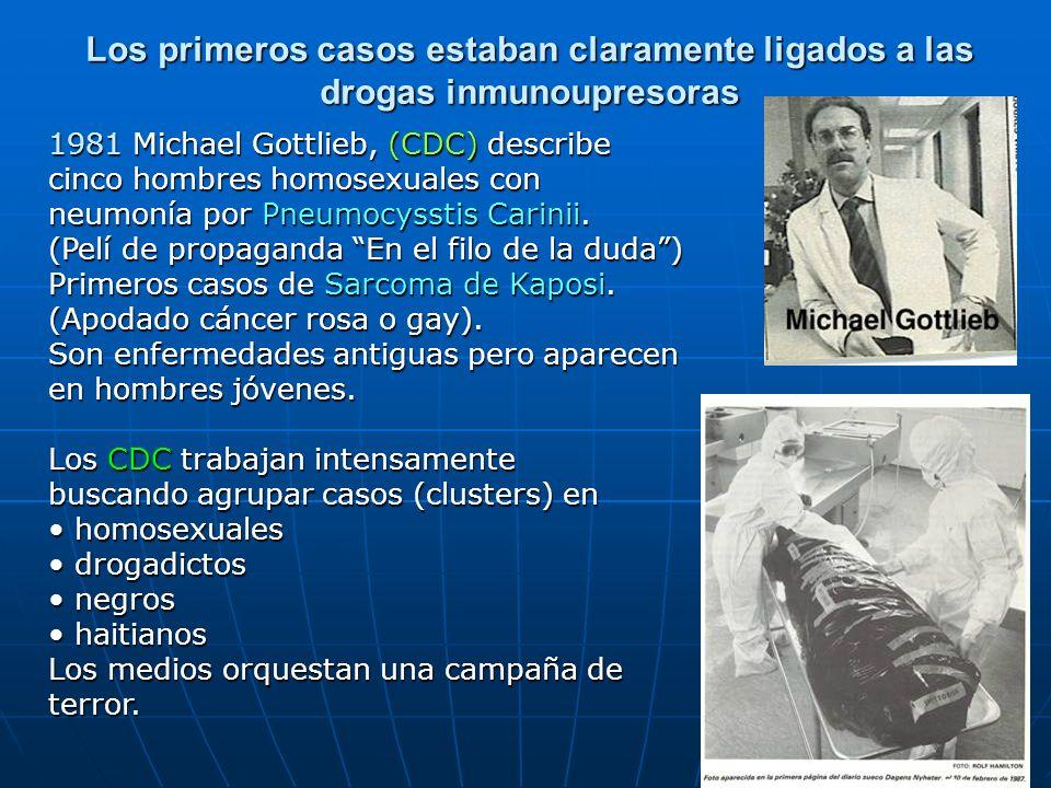 6 1981 Michael Gottlieb, (CDC) describe cinco hombres homosexuales con neumonía por Pneumocysstis Carinii. (Pelí de propaganda En el filo de la duda)