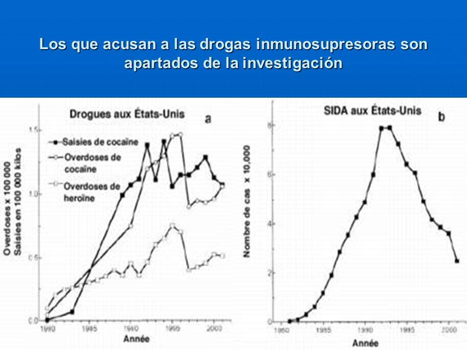 8 Los que acusan a las drogas inmunosupresoras son apartados de la investigación