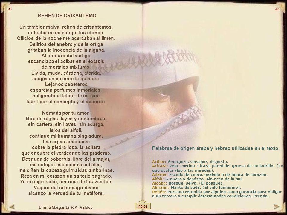Palabras de origen árabe y hebreo utilizadas en el texto.