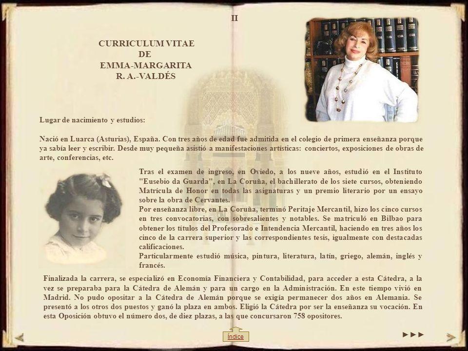 II CURRICULUM VITAE DE EMMA-MARGARITA R.