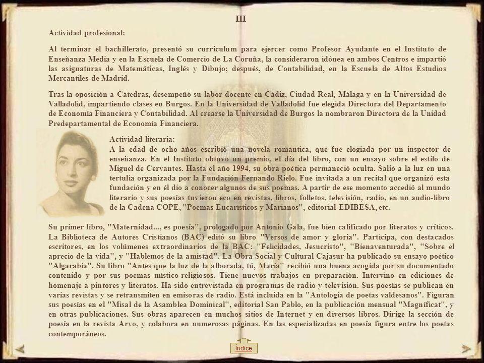 II CURRICULUM VITAE DE EMMA-MARGARITA R. A.-VALDÉS Lugar de nacimiento y estudios: Nació en Luarca (Asturias), España. Con tres años de edad fue admit