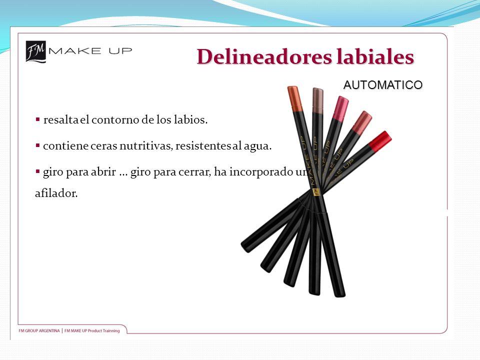 Delineadores labiales AUTOMATICO AUTOMATICO resalta el contorno de los labios. contiene ceras nutritivas, resistentes al agua. giro para abrir... giro