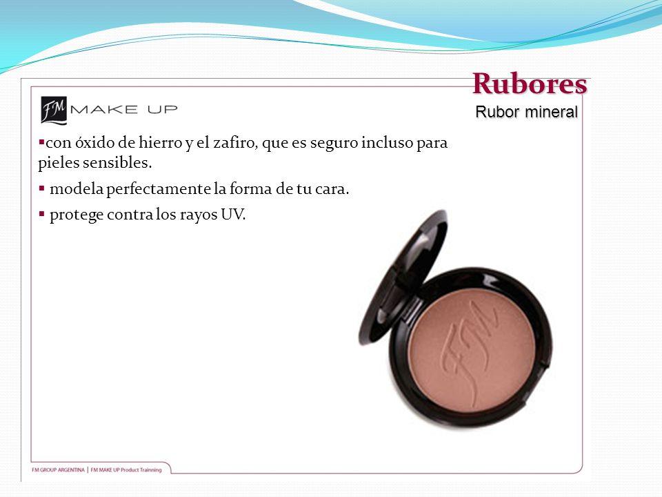 Rubores Rubor mineral con óxido de hierro y el zafiro, que es seguro incluso para pieles sensibles. modela perfectamente la forma de tu cara. protege