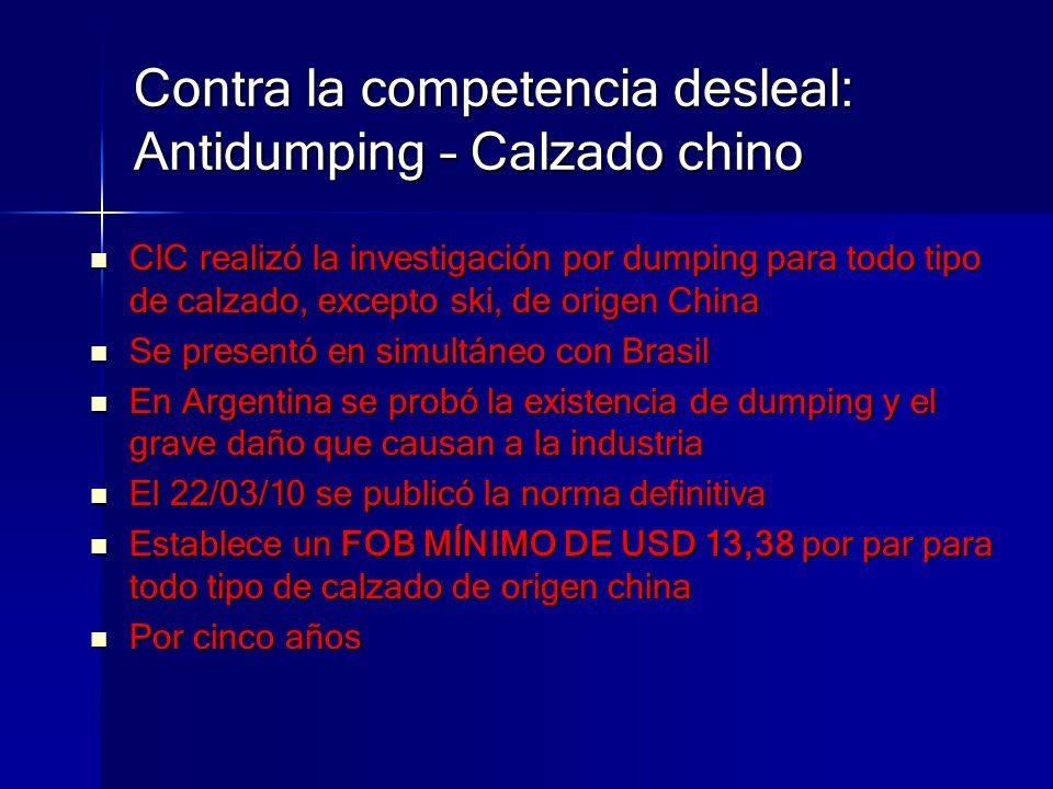 Contra la competencia desleal: Antidumping – Calzado chino CIC realizó la investigación por dumping para todo tipo de calzado, excepto ski, de origen