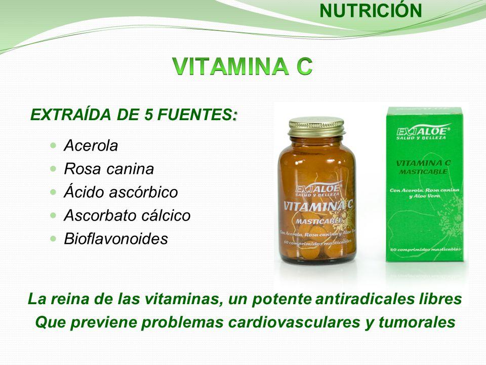 : EXTRAÍDA DE 5 FUENTES: NUTRICIÓN La reina de las vitaminas, un potente antiradicales libres Que previene problemas cardiovasculares y tumorales Acer