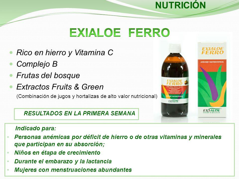 Indicado para: Personas anémicas por déficit de hierro o de otras vitaminas y minerales que participan en su absorción; Niños en étapa de crecimiento