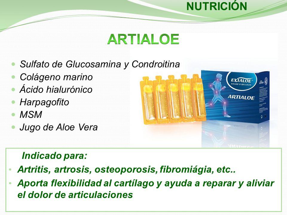 Indicado para: Artritis, artrosis, osteoporosis, fibromiágia, etc.. Aporta flexibilidad al cartílago y ayuda a reparar y aliviar el dolor de articulac