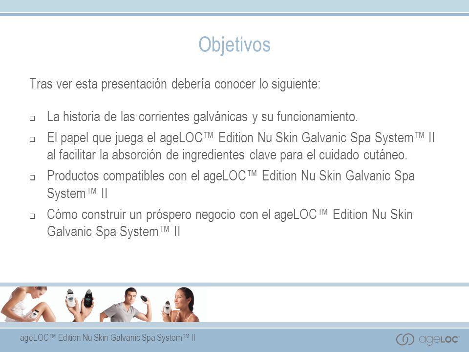 ageLOC Edition Nu Skin Galvanic Spa System II Beneficios del Producto: a)Elimina impurezas, permitiendo que los poros respiren.